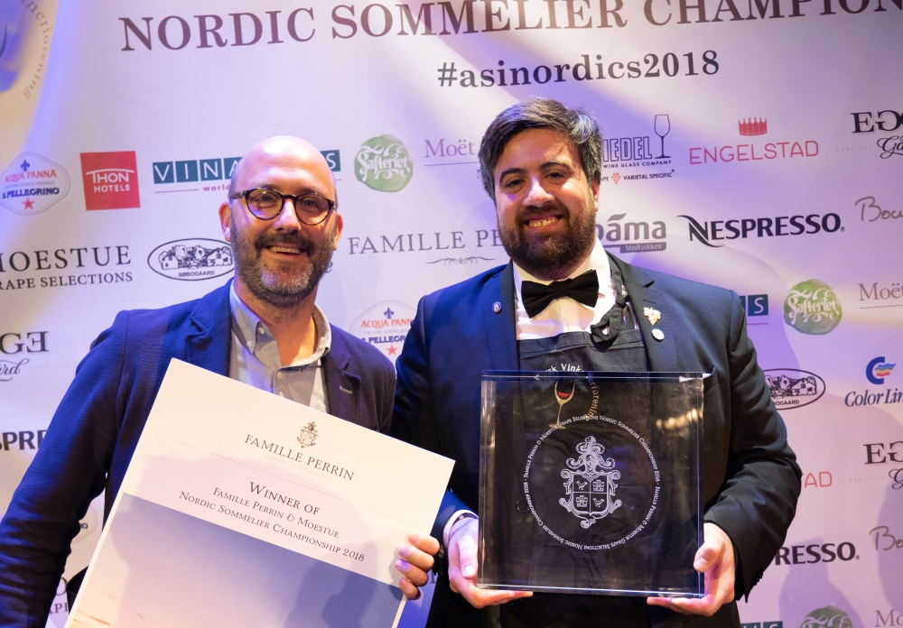 The Best Sommelier of Nordics 2018 Francesco Marzola